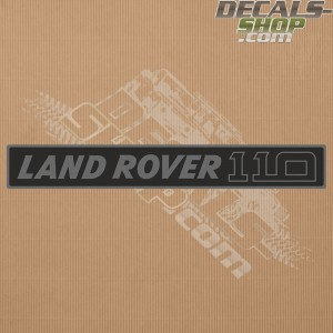 Land Rover 110 Dark Grey Badge Decal