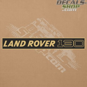 Land Rover 130 Gold Badge Decal