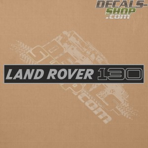Land Rover 130 Silver Badge Decal