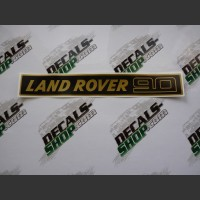Land Rover 90 Gold Badge Decal