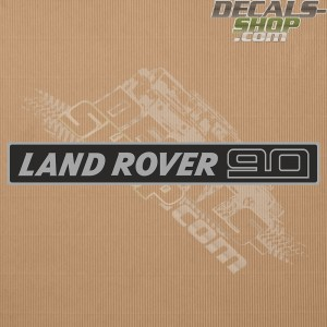 Land Rover 90 Silver Badge Decal