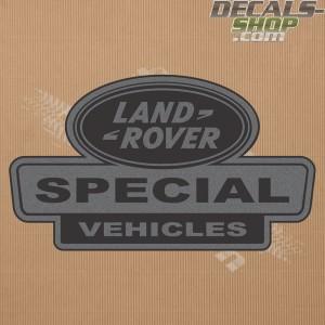 Land Rover Defender Special Vehicle Dark Grey Badge