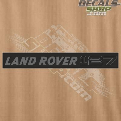 Land Rover 127 Dark Grey Badge Decal