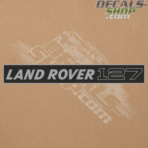 Land Rover 127 Silver Badge Decal