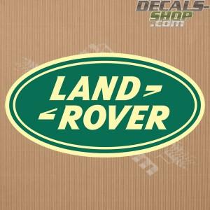Land Rover New Logo Beige-Green Badge