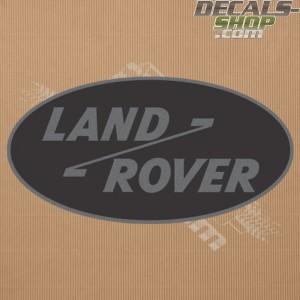 Land Rover Old Logo Dark Grey Badge