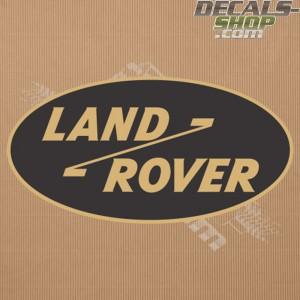 Land Rover Old Logo Gold Badge