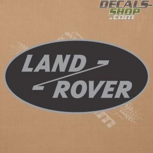 Land Rover Old Logo Silver Badge