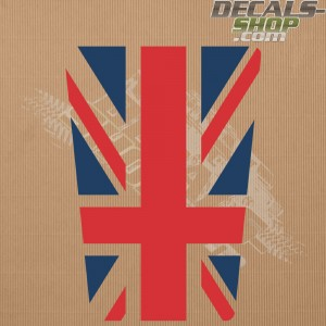 Land Rover Defender 90/110 UK Flag Old Style Color Bonnet Decal v.01