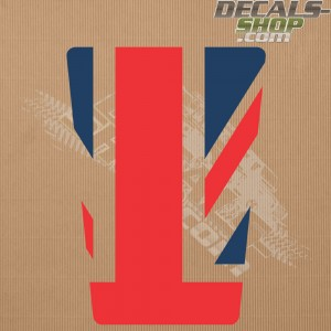 Land Rover Defender 90/110 UK Flag Old Style Color Bonnet Decal v.02