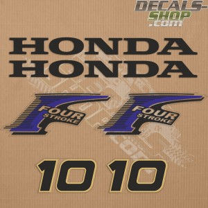 Honda 10HP New Style Outboard Decal Kit
