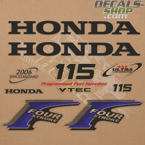 Honda 115HP New Style Outboard Decal Kit