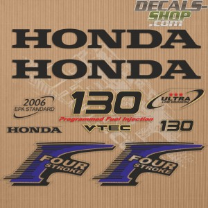 Honda 130HP New Style Outboard Decal Kit
