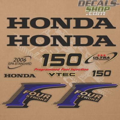 Honda 150HP New Style Outboard Decal Kit