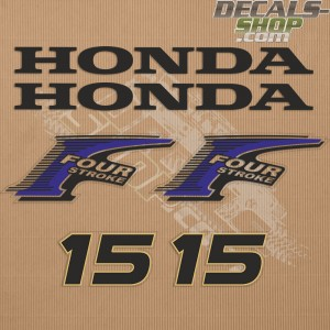 Honda 15HP New Style Outboard Decal Kit