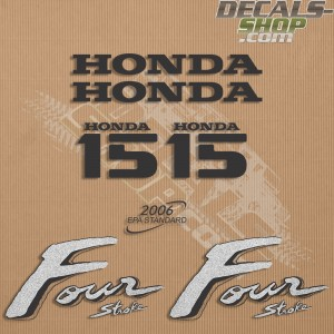 Honda 15HP Old Style Outboard Decal Kit