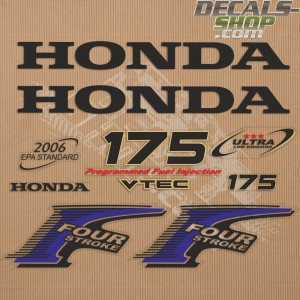 Honda 175HP New Style Outboard Decal Kit