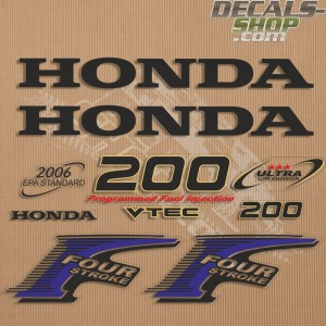 Honda 200HP New Style Outboard Decal Kit