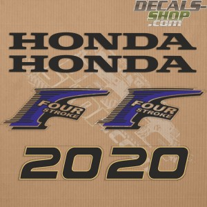 Honda 20HP New Style Outboard Decal Kit