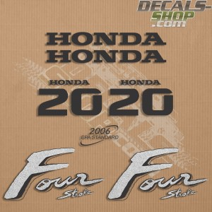 Honda 20HP Old Style Outboard Decal Kit
