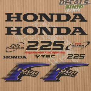 Honda 225HP New Style Outboard Decal Kit