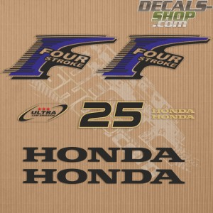 Honda 25HP New Style Outboard Decal Kit