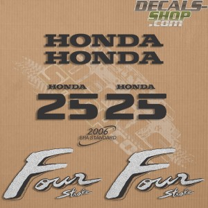 Honda 25HP Old Style Outboard Decal Kit