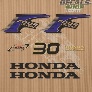 Honda 30HP New Style Outboard Decal Kit