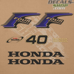 Honda 40HP New Style Outboard Decal Kit
