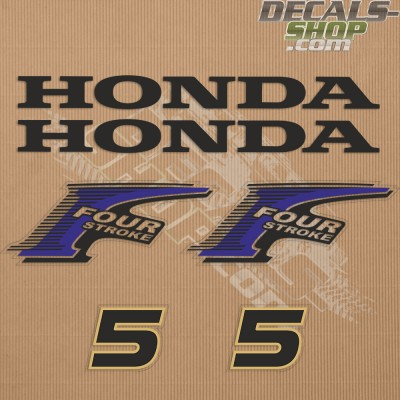 Honda 5HP New Style Outboard Decal Kit