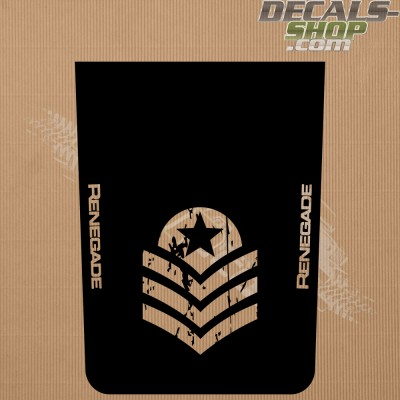 Jeep Renegade Trailhawk Bonnet Decal v.11