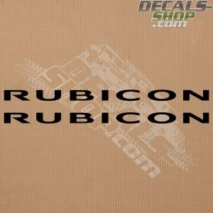 Jeep Wrangler Rubicon Bonnet Decals