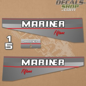 Mariner 15HP Fifteen 1991-1996 Outboard Decal Kit
