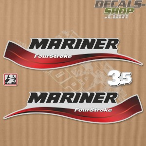 Mariner 3.5HP Four Stroke Outboard Decal Kit