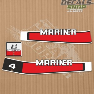 Mariner 4HP Two Stroke 80's Outboard Decal Kit