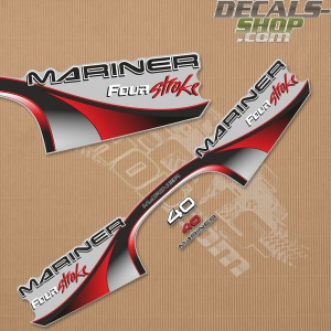 Mariner 40HP Four Stroke Outboard Decal Kit