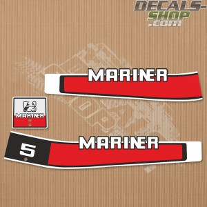 Mariner 5HP Two Stroke 80's Outboard Decal Kit