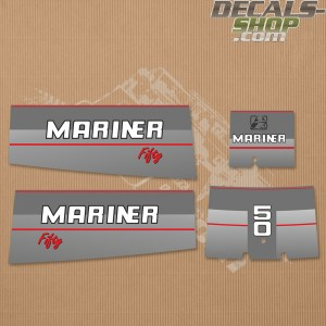 Mariner 50HP Fifty 1991-1996 Outboard Decal Kit