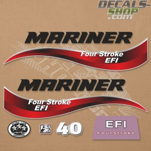 Mariner 40HP Four Stroke EFI 2014 Outboard Decal Kit