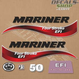 Mariner 50HP Four Stroke EFI 2014 Outboard Decal Kit