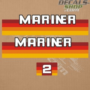 Mariner 2HP 1984-1990 Outboard Decal Kit