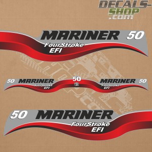 Mariner 50HP Four Stroke EFI Outboard Decal Kit