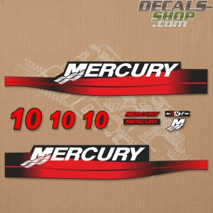 Mercury 10HP Two Stroke Outboard Decal Kit