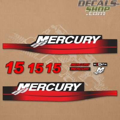 Mercury 15hp Two Stroke Outboard Decal Kit