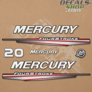 Mercury 20HP Four Stroke 2013-2017 Outboard Decal Kit