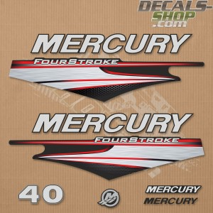 Mercury 40HP Four Stroke 2013-2017 Outboard Decal Kit
