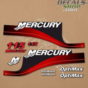 OUTBOARD DECALS MERCURY 115hp BLUE EFI SALTWATER