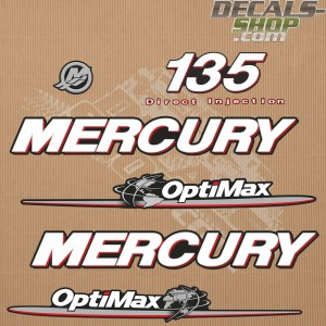 Mercury 135HP Optimax Direct Injection Outboard Decal Kit