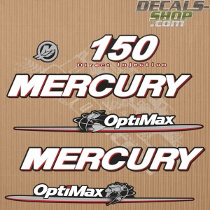 Mercury 150HP Optimax Direct Injection Outboard Decal Kit