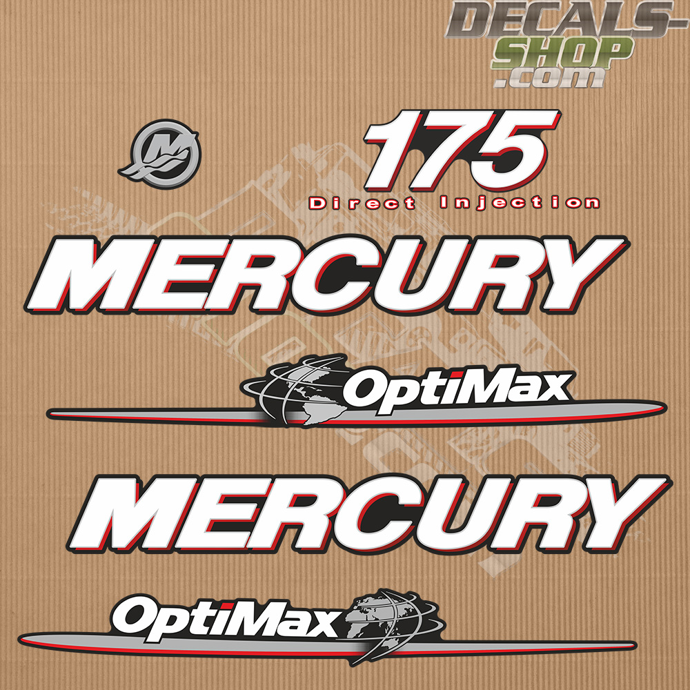 Mercury 175hp Optimax Direct Injection Outboard Decal Kit
